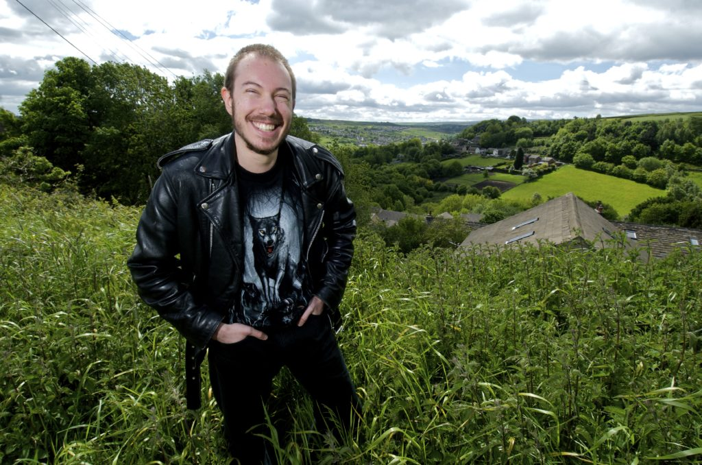 Picture of Nick Stead in a field outside his home in Huddersfield