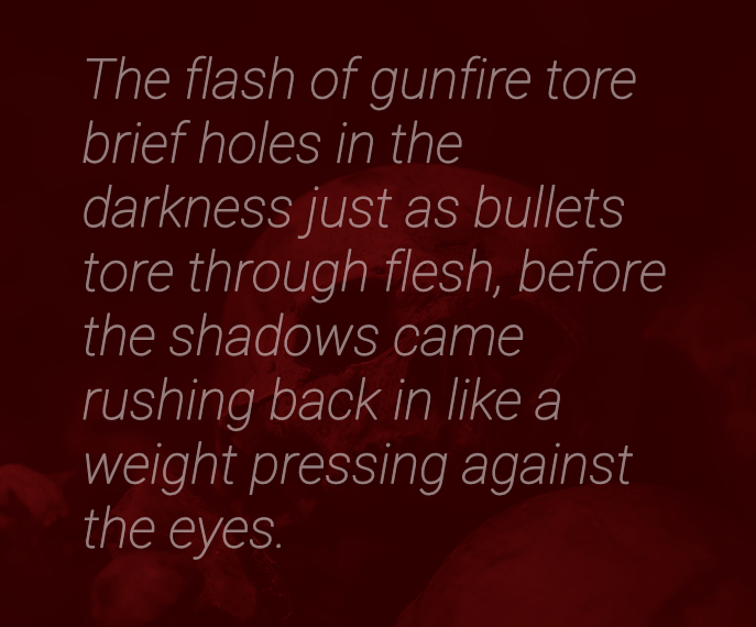 Consuming Darkness, short story quote art