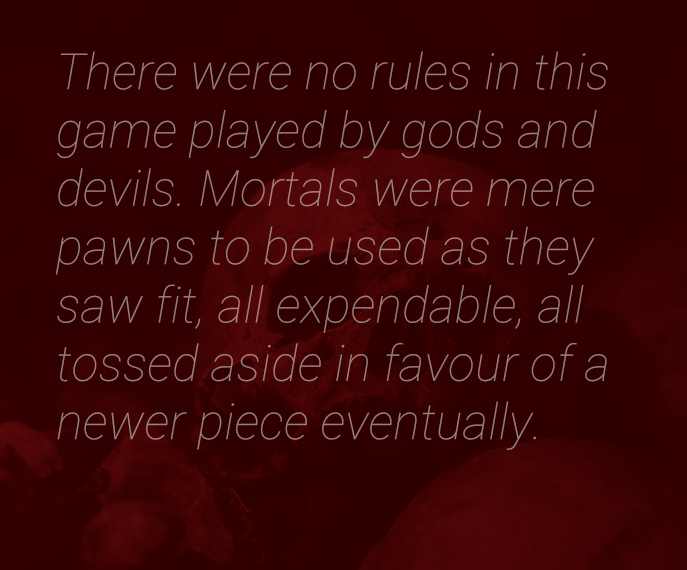 Immortal Game, short story quote art